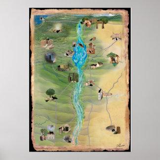 Yeshuas Katze: Karte von Mari Reisen Poster