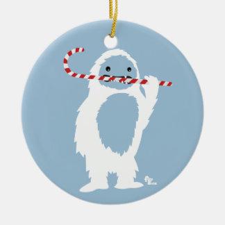 Yeti-Feiertags-Verzierung Rundes Keramik Ornament