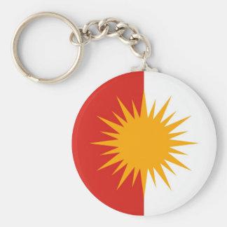 Yezidi Flagge Keychain Standard Runder Schlüsselanhänger