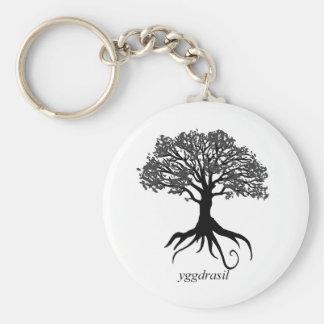 Yggdrasil Baum des Lebens Standard Runder Schlüsselanhänger