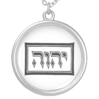 YHWH der göttliche Name des Gottes Versilberte Kette
