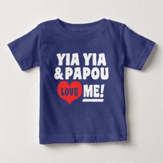 Yia Yia und Papou Liebe ich Baby T-shirt