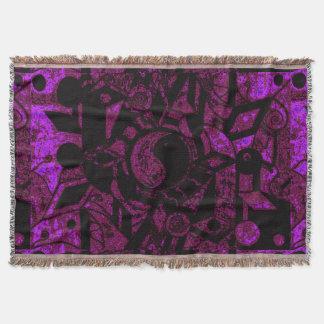 Yin ein Yang schwarze und tiefe Rosen-Dunst SDL TB Decke
