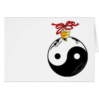 Yin u. Yang-Weihnachtsball Karte