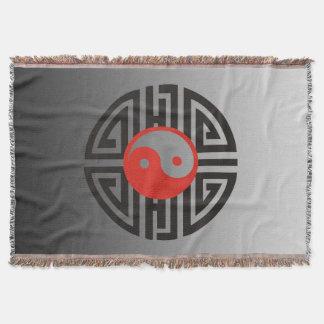 YIN u. YANG Yantra - schwarzes Rot + Ihr Decke