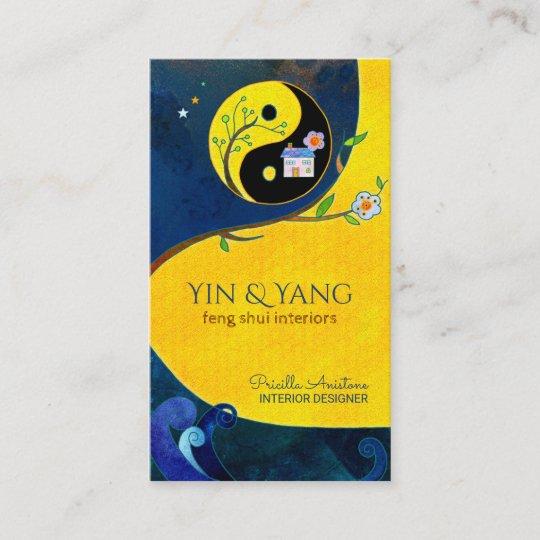 Yin U Yangs Feng Shui Innenraum Visitenkarten Visitenkarte