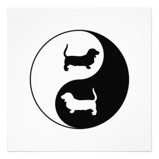 Yin und Yang Basset Hound Fotodruck