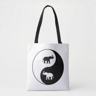 Yin und Yang-Elefanten Tasche
