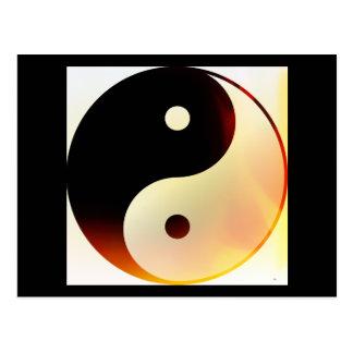 Yin und Yang-Flamme Postkarte