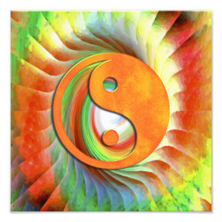 Yin und Yang Fotodruck