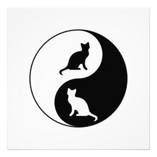 Yin und Yang-Katze Fotodruck
