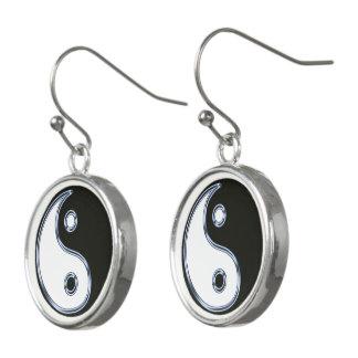 Yin und Yang-Medaillon Ohrringe
