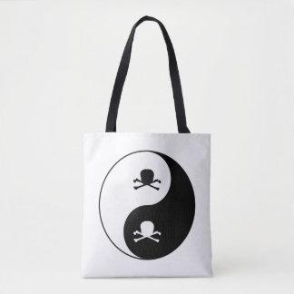 Yin und Yang-Schädel Tasche