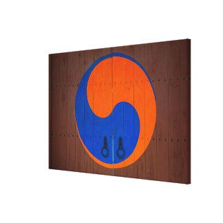 Yin und Yang-Symbol, Südkorea Leinwanddruck