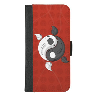 Yin und Yang, welche die Koi Smartphone Geldbörse iPhone 8/7 Plus Geldbeutel-Hülle
