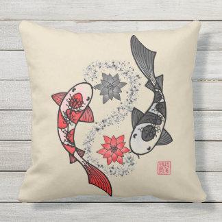Yin und Yangs Koi Fisch-Kissen Kissen Für Draußen