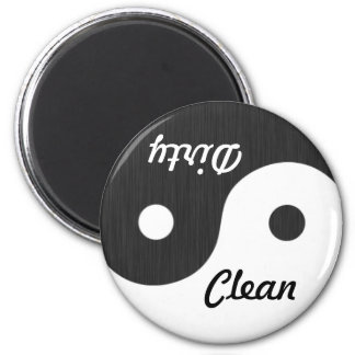 Yin und Yangs sauberer/schmutziger Spülmaschinen-M Magnete