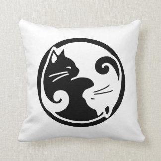 """Yin Wurfs-Kissen der Katzen-Yang 16x16"""" Zierkissen"""