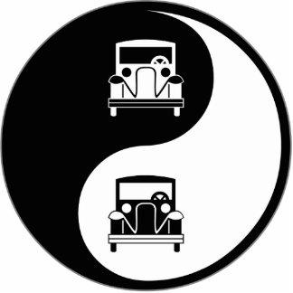 Yin Yang antike Autos Photo Figur