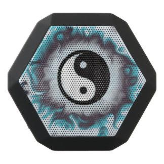 Yin Yang aquamarine Flamme Schwarze Bluetooth Lautsprecher