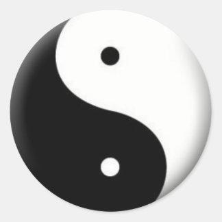 Yin-Yang Aufkleber