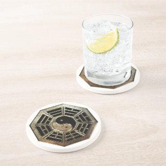 Yin Yang Bagua Sandstein-Getränk-Untersetzer Getränkeuntersetzer