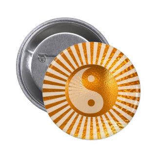 YIN YANG Balance: A MUSS für selbst kaufen Runder Button 5,1 Cm