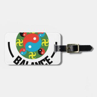 Yin Yang Balance Gepäckanhänger