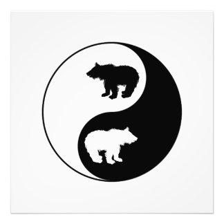Yin Yang Bär Fotodruck