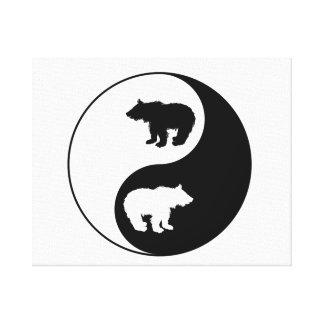 Yin Yang Bär Leinwanddruck