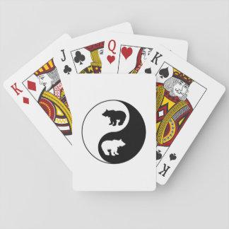 Yin Yang Bär Spielkarten