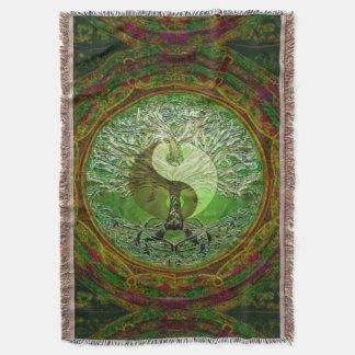 Yin Yang Baum des Leben-Grüns Decke