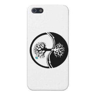 Yin Yang Baum des Leben-Schwarzen u. des Weiß iPhone 5 Case