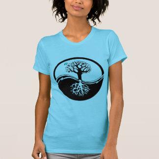 Yin Yang Baum des Leben-Schwarzen u. des Weiß T-Shirt