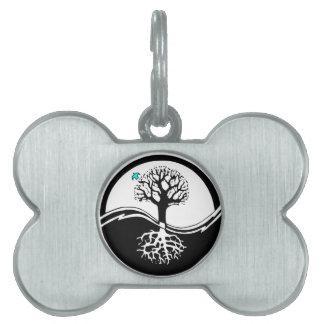 Yin Yang Baum des Leben-Schwarzen u. des Weiß Tiermarke
