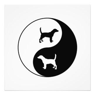 Yin Yang Beagle Fotodruck