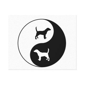 Yin Yang Beagle Leinwanddruck