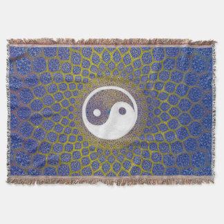 Yin Yang Blau Decke