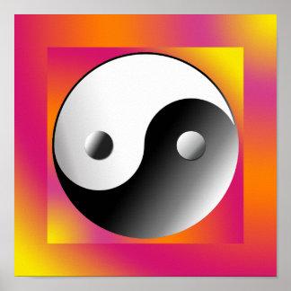 Yin Yang Chinese-Symbol Poster