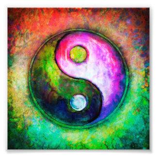 Yin Yang - Colorful Painting I Fotodruck