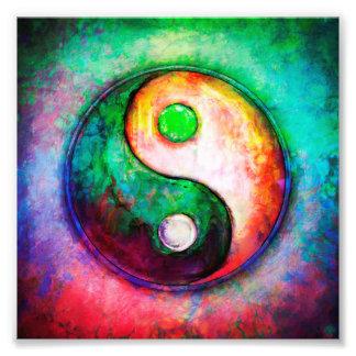 Yin Yang - Colorful Painting II Fotodruck