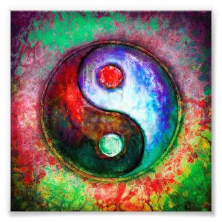 Yin Yang - Colorful Painting III Fotodruck