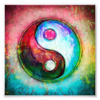 Yin Yang - Colorful Painting IV Fotodruck