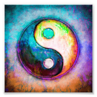Yin Yang - Colorful Painting V Fotodruck