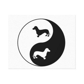 Yin Yang Dackel Leinwanddruck
