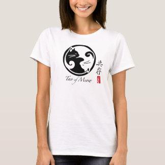 Yin Yang das T-Stück der Katzen-Frauen (viel T-Shirt