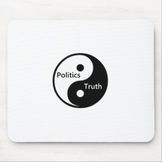 Yin Yang der Politik und der Wahrheit Mousepads