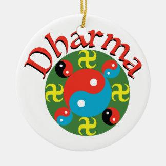 Yin Yang Dharma Rundes Keramik Ornament