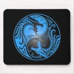Yin Yang Drachen, Blau und Schwarzes Mauspad