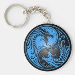 Yin Yang Drachen, Blau und Schwarzes Schlüsselbänder